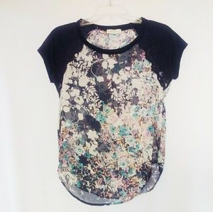 Love Fire Floral Top Size XS